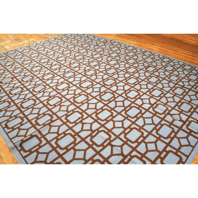 """American Modern Needlepoint Wool Rug 9'0"""" X 12'0"""" For Sale - Image 3 of 10"""