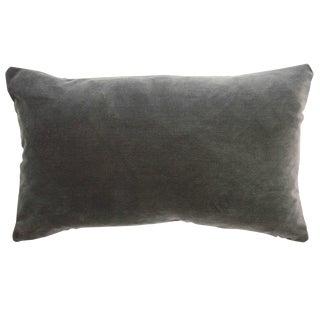 FirmaMenta Italian Gray Velvet Lumbar Pillow