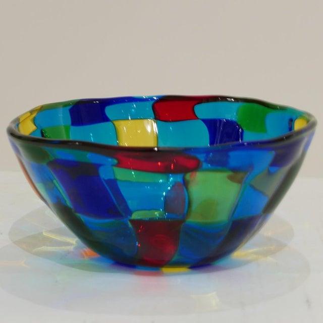 "Early 21st Century Italian Vibrant Blue Ballarin Murano Glass ""Pezzatto"" Bowl Signed W Label For Sale - Image 5 of 9"