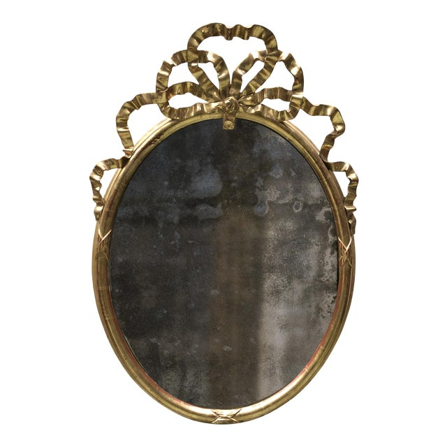 19th Century Oval Mirror For Sale