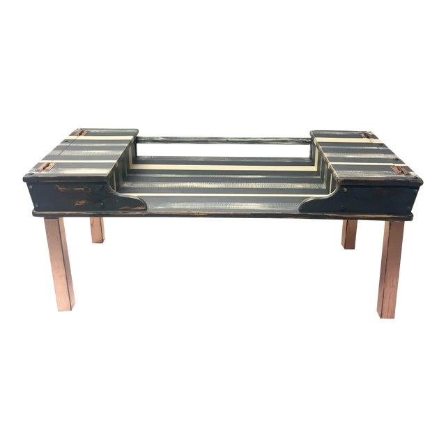 Striped Storage Coffee Table Chairish