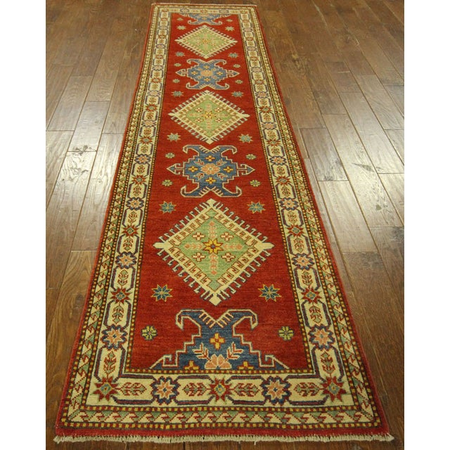"Shirvan Red Kazak Runner Rug - 2'8"" x 9'6"" - Image 2 of 10"