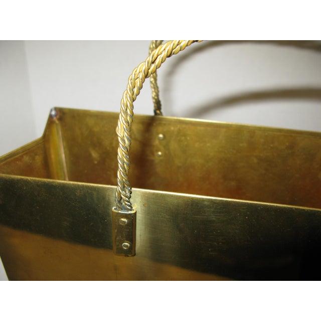 Hollywood Regency Circa 1970 Brass Shopping Bag - Image 7 of 7