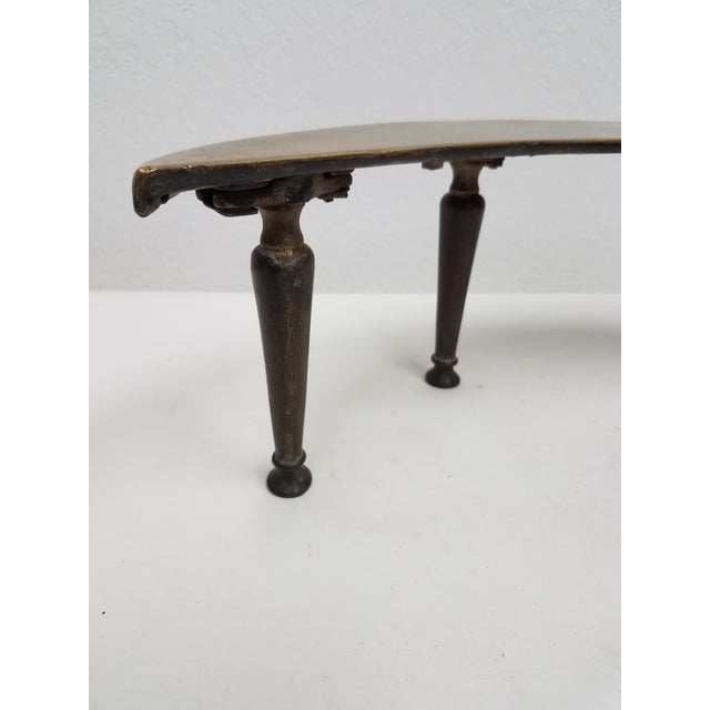 Antique English Fireplace Footman - Moon Shaped For Sale In Dallas - Image 6 of 9