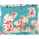 Image of 'Sir Lancelot' Painting on Paper by Sean Kratzert For Sale
