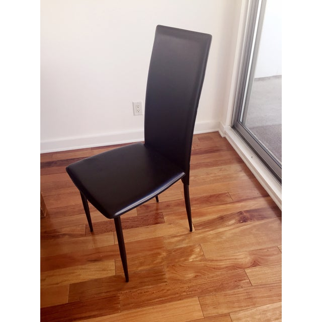 Modern Domitalia Black High-Back Chairs - Set of 6 - Image 2 of 4