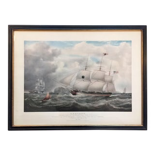 Arthur Ackermann Nautical Ship Framed Print For Sale