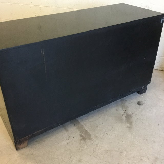 Henredon Hollywood Regency Black Lacquer Buffet Credenza For Sale - Image 11 of 12