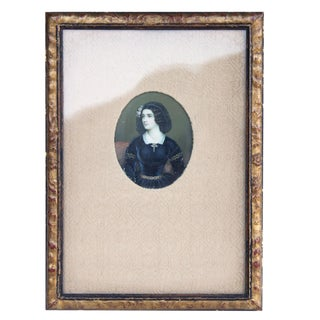 Miniature Portrait of a Young Woman For Sale