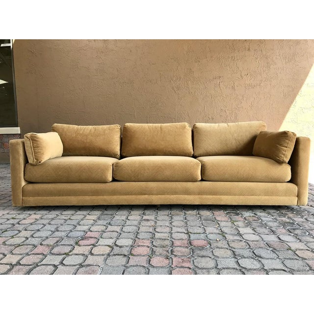 This is a fantastic American made modern tuxedo sofa. The sofa was wrapped in plastic for years and was never used from...