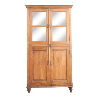 Antique French China Hutch Cabinet
