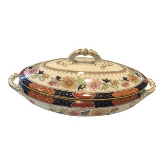20th Century Traditional Cauldon Porcelain Covered Serving Dish