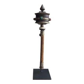 Antique Buddhist Prayer Wheel For Sale