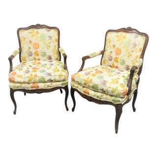 Henredon County French Oak Chairs - a Pair