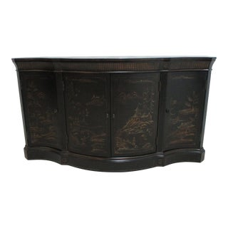 .Ethan Allen Chinoiserie Serpentine Sideboard For Sale