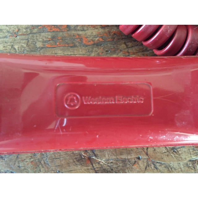 Vintage Red Rotary Telephone - Image 8 of 11