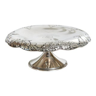 1910 Antique Tiffany & Co. Sterling Silver Decorated Footed Tazza Compote For Sale
