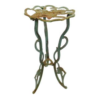 Art Nouveau Cast Iron Plant Stand For Sale