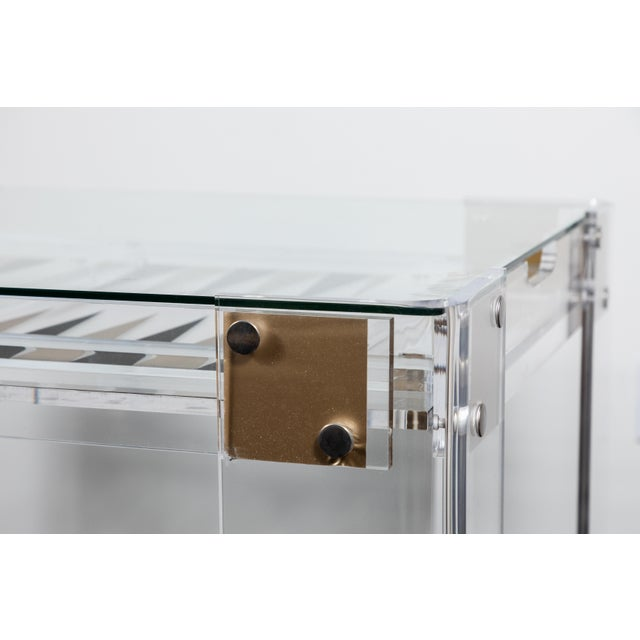 Lucite Backgammon Table in the Manner of Charles Hollis Jones For Sale In Los Angeles - Image 6 of 11