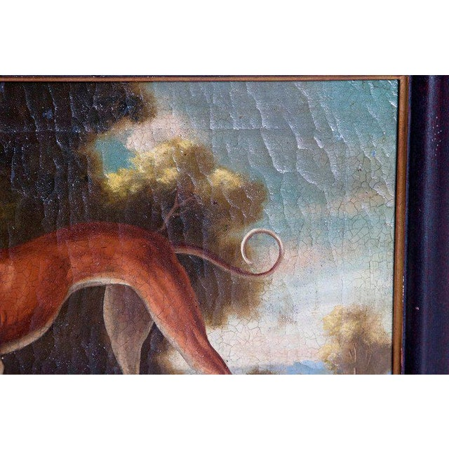19th Century English Oil on Canvas of Whippet in a Landscape For Sale - Image 10 of 13