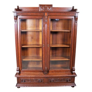 Late 19th Century Antique Oak Bookcase For Sale