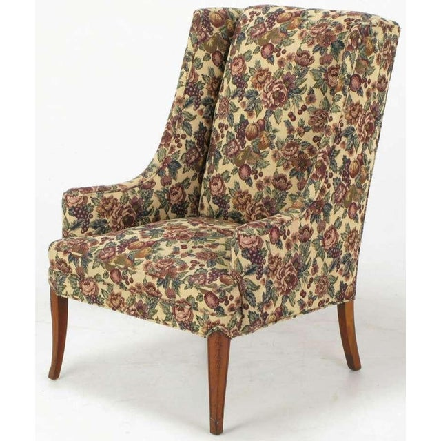 Pair Low-Arm Wing Chairs In Grosfeld House Manner - Image 7 of 9