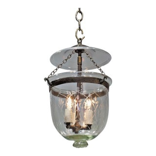 Etched Bell Jar Lantern, Circa:1850, England For Sale