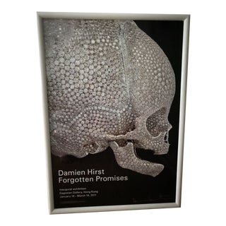 Original Signed Damien Hirst 'Forgotten Promises' Poster With Custom White Frame For Sale