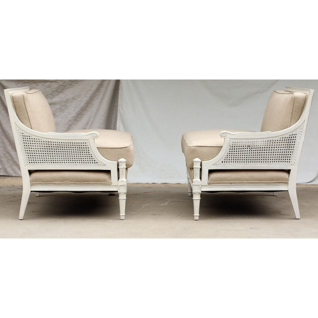 French Two-Piece Linen Sofa - Image 8 of 10