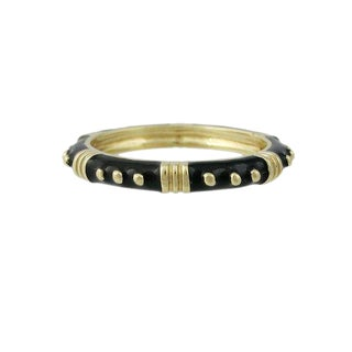 14k Black and Gold Enamel Ring / Band For Sale