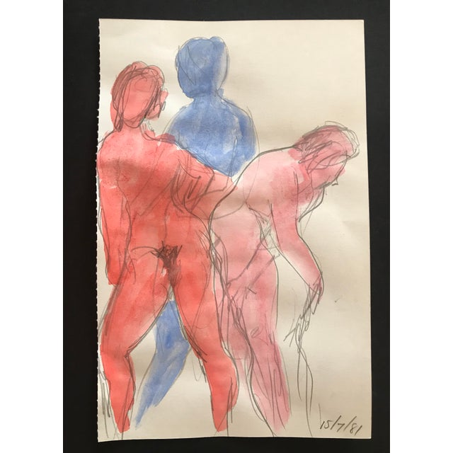 From the estate of the artist Inga-Britta Mills. From Sketchbooks dated 1980-1992. Perfect for your gallery wall. Inga-...