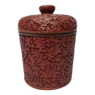Antique Cinnabar Lidded Box For Sale