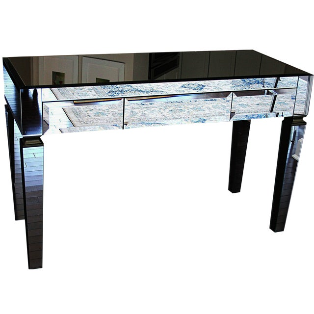 Neiman Marcus Mirrored Desk - Image 1 of 4