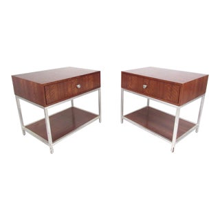 Modern Two Tier End Tables - a Pair