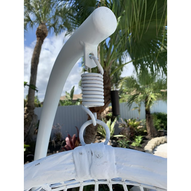 White Vintage Russell Woodard Hanging Birdcage Swing For Sale - Image 8 of 13