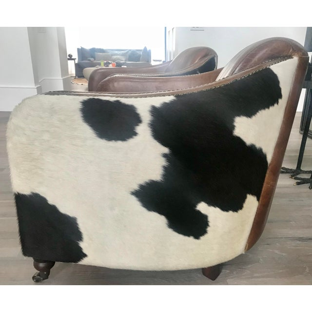 Regina Andrew Leather Cowhide Club Chair For Sale In New York - Image 6 of 11