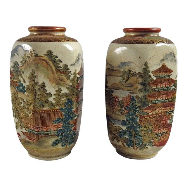 Antique Meiji Period Satsuma Vases A Pair Chairish