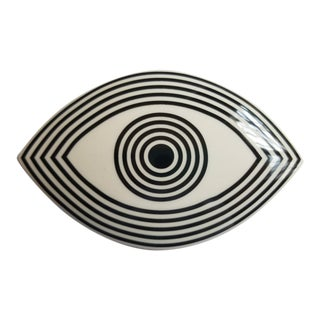 "Vintage Jonathan Adler Op Art ""Wink"" Box For Sale"