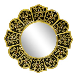 Eglomise Black & Gold Mirror