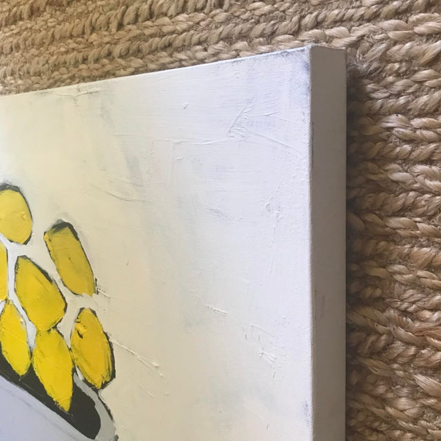 """Contemporary """"Lemons"""" Contemporary Abstract Painting by Sarah Trundle For Sale - Image 3 of 5"""