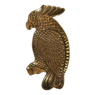 Brass Parrot Catchall For Sale
