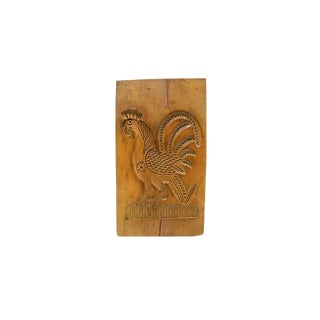 Antique Hand-Carved French Gingerbread Mold For Sale