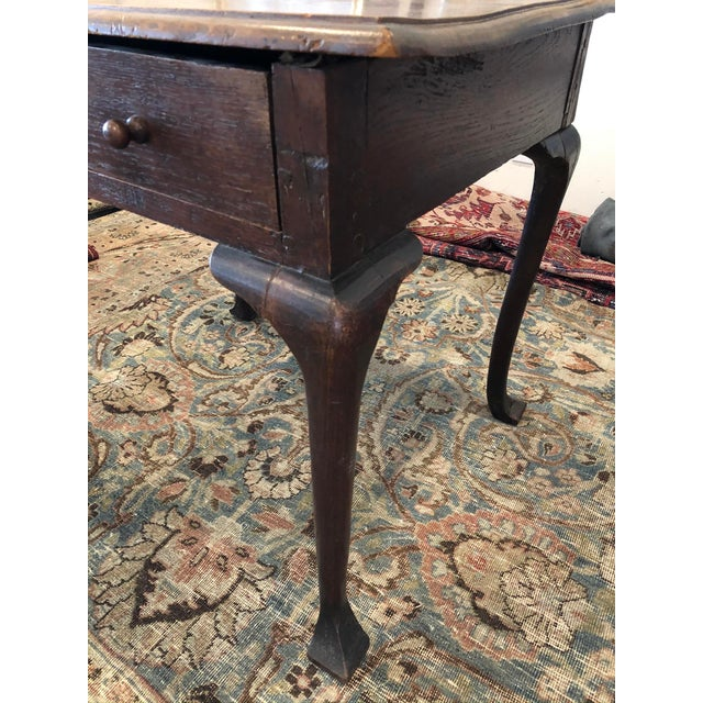 Antique English Farmhouse Mahogany Writing Table For Sale In Los Angeles - Image 6 of 13