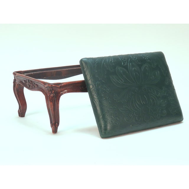 French 19th Century Carved French Foot Stool For Sale - Image 3 of 4
