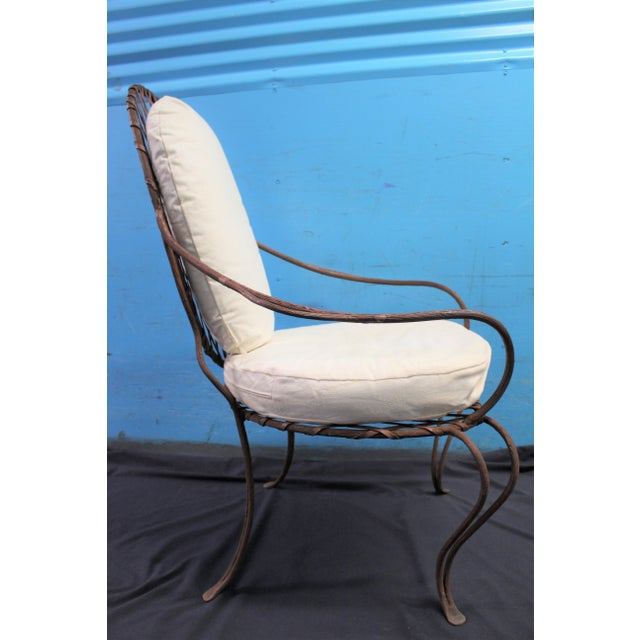 Rose Tarlow Twig Iron Garden Armchairs & Table Base For Sale In New York - Image 6 of 10