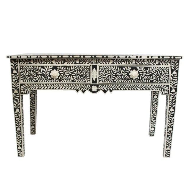 Black White Bone Inlay Desk Or Vanity