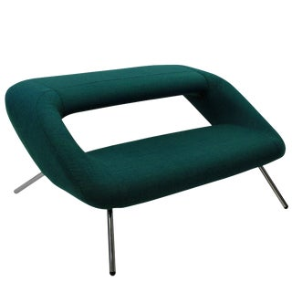 1960's Emerald Green Italian Modernist Sofa