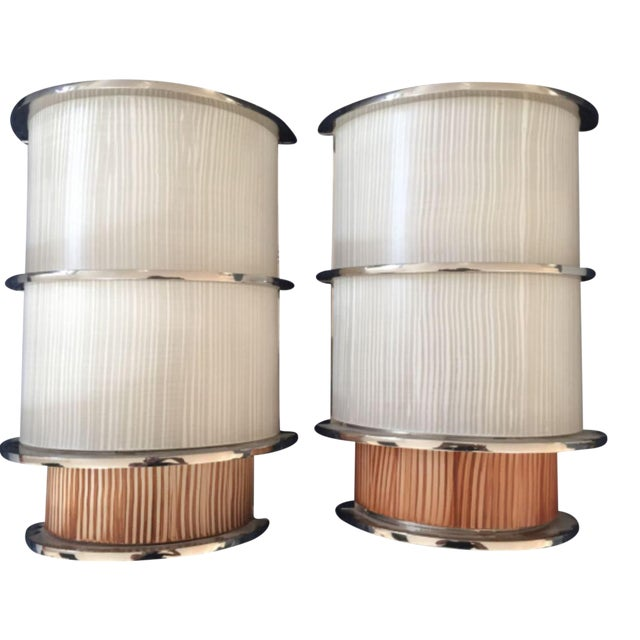 Wired Agg Sconces - A Pair For Sale