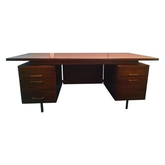 Jens Risom Floating Executive Desk - Image 1 of 6