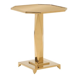 Contemporary Brass Caracole Put on a Pedestal Table